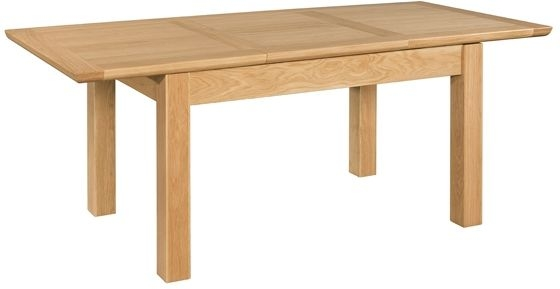 Devonshire Siena Oak Dining Table - 140cm-200cm Rectangular Butterfly Extending