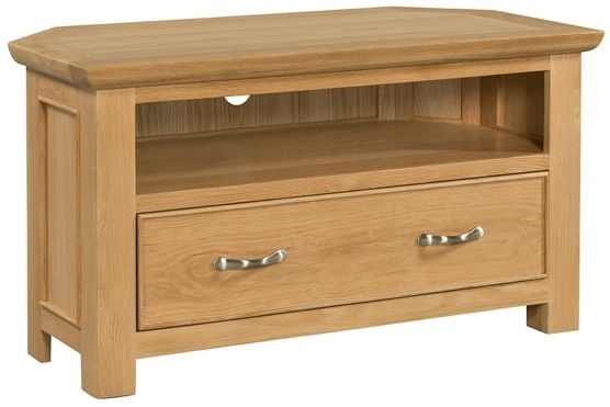 Devonshire Siena Oak 1 Drawer Corner TV Unit