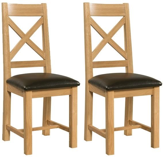Devonshire Siena Oak Dining Chair - Cross Back (Pair)