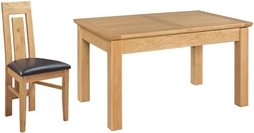 Devonshire Siena Oak Butterfly Extending Dining Table and 4 Verona Chair