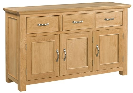 Devonshire Siena Oak 3 Door 3 Drawer Wide Sideboard