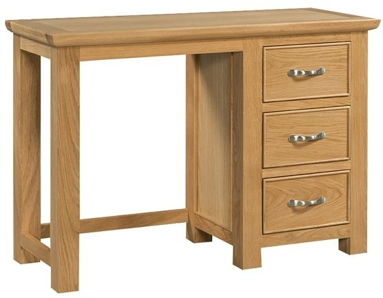 Devonshire Siena Oak Dressing Table - Single Pedestal