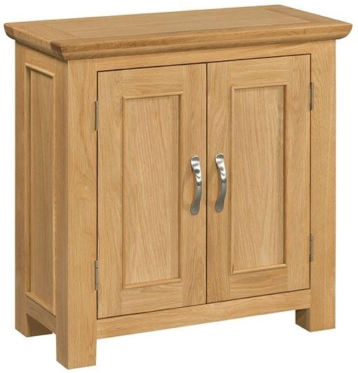 Devonshire Siena Oak Hall Cabinet - Small 2 Door