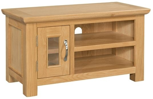 Devonshire Siena Oak 1 Door Small TV Unit