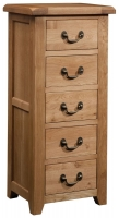 Devonshire Somerset Oak 5 Drawer Chest