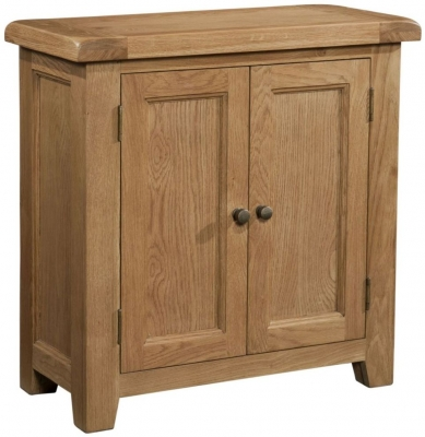 Somerset Oak 2 Door Hall Cabinet