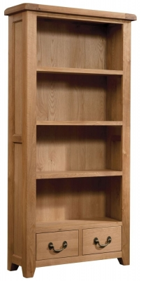 Somerset Oak High Bookcase