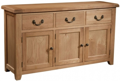 Somerset Oak 3 Door Large Sideboard