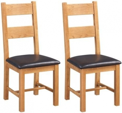 Devonshire Somerset Oak Dining Chair (Pair)