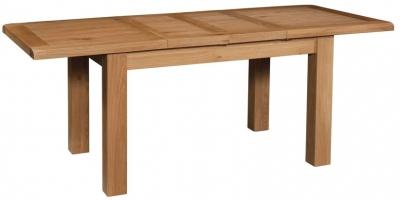 Devonshire Somerset Oak Dining Table with 2 Leaf - Large