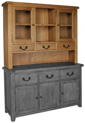 Devonshire Somerset Oak Dresser Top - Large