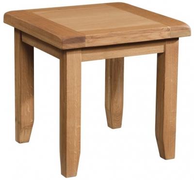 Devonshire Somerset Oak Lamp Table