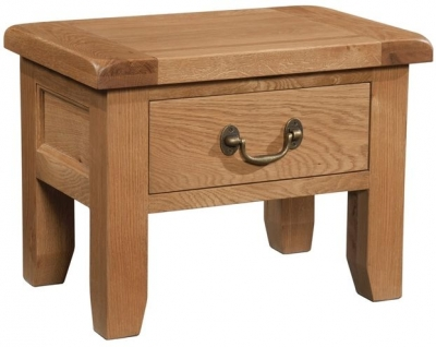 Devonshire Somerset Oak Side Table - 1 Drawer