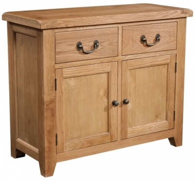 Devonshire Somerset Oak Sideboard - 2 Door and 2 Drawer