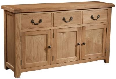 Devonshire Somerset Oak Sideboard - 3 Door and 3 Drawer