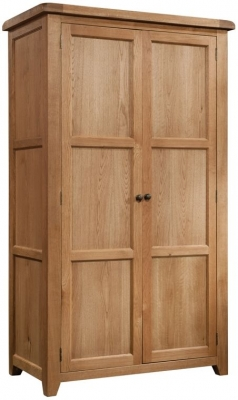 Devonshire Somerset Oak Wardrobe - Double