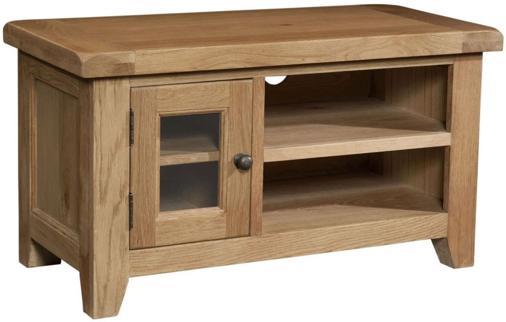 Devonshire Somerset Oak 1 Door Small TV Unit
