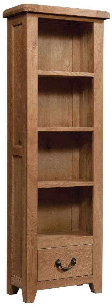 Devonshire Somerset Oak Tall Narrow Bookcase
