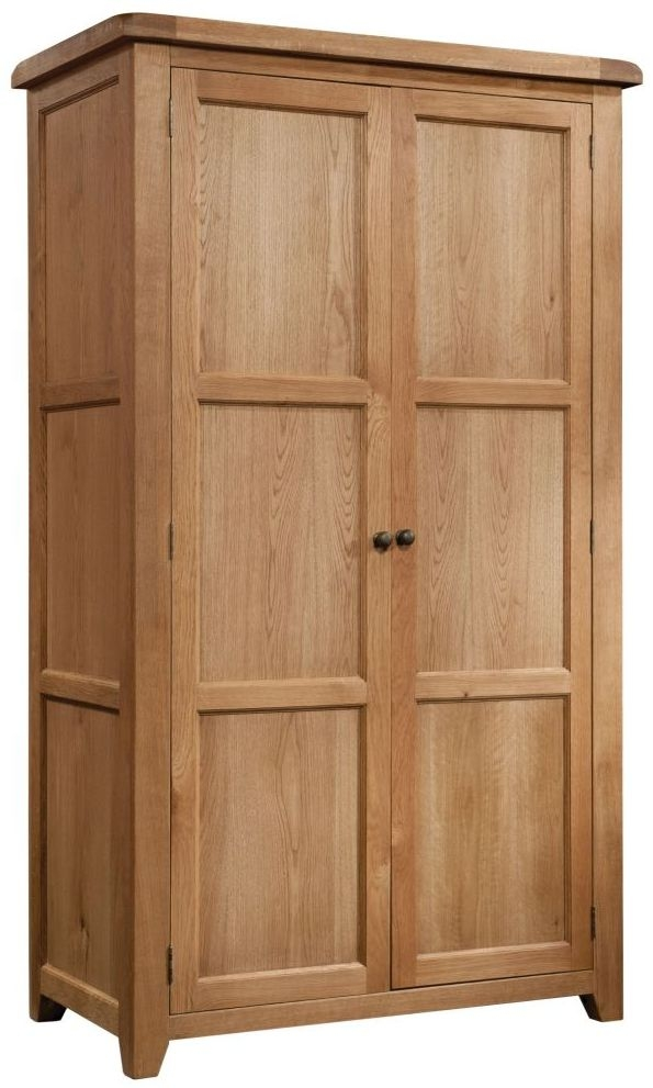 Devonshire Somerset Oak 2 Door Double Wardrobe
