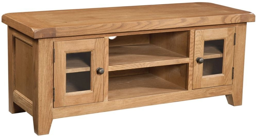 Devonshire Somerset Oak 2 Door Large TV Unit
