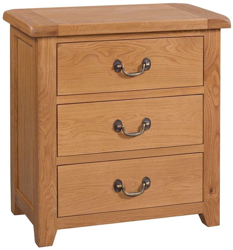Somerset Oak 3 Drawer Chest