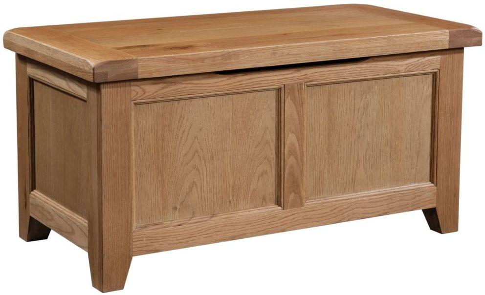 Somerset Oak Blanket Box