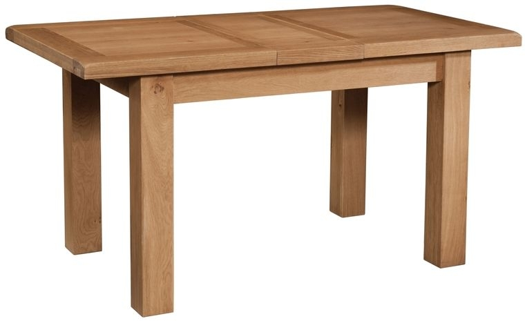 Devonshire Somerset Oak Dining Table with 1 Leaf