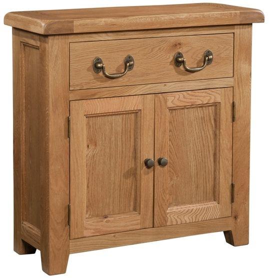 Devonshire Somerset Oak 2 Door 1 Drawer Narrow Sideboard