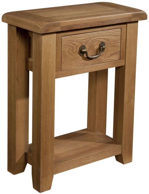 Somerset Oak Small Console Table