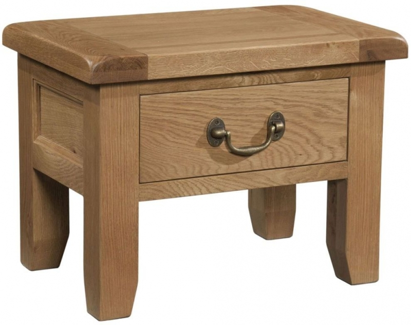 Somerset Oak Side Table with Drawer