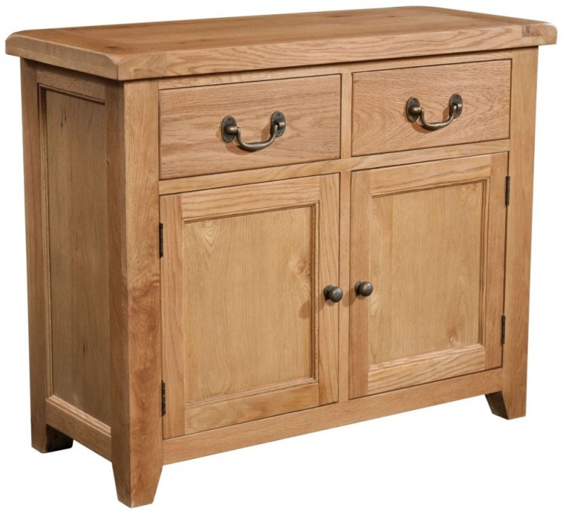 Somerset Oak 2 Door Small Sideboard