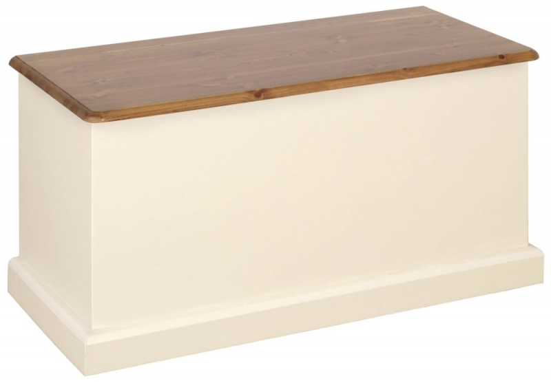 Devonshire Torridge Blanket Box - Ivory Painted