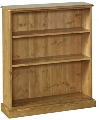 Devonshire Torridge Pine Bookcase - 3ft with 8in Deep Shelves