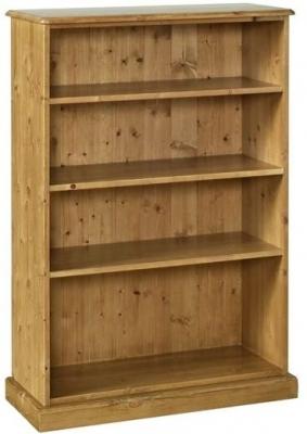 Devonshire Torridge Pine Bookcase - 4ft with 12in Deep Shelves