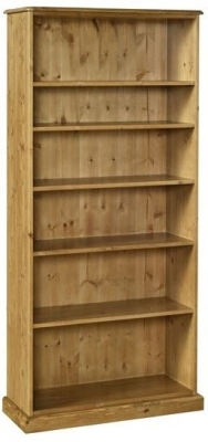 Devonshire Torridge Pine Bookcase - 6ft with 12in Deep Shelves