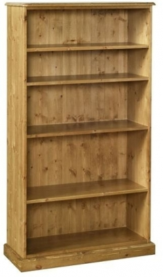 Devonshire Torridge Pine Bookcase - 5ft with 12in Deep Shelves