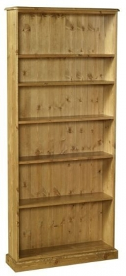 Devonshire Torridge Pine Bookcase - 6ft with 8in Deep Shelves