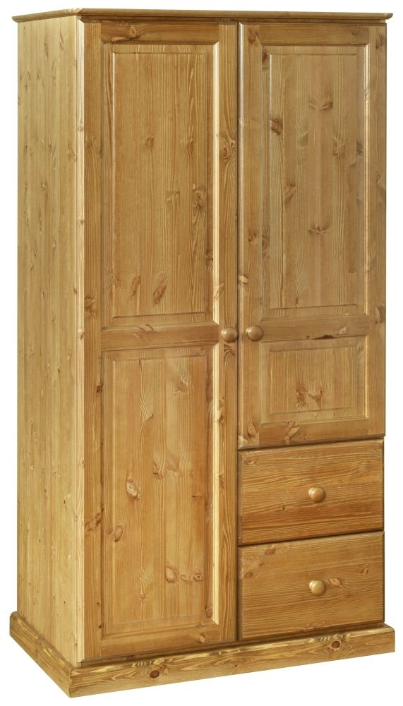 Devonshire Torridge Pine 2 Door 2 Drawer Wardrobe