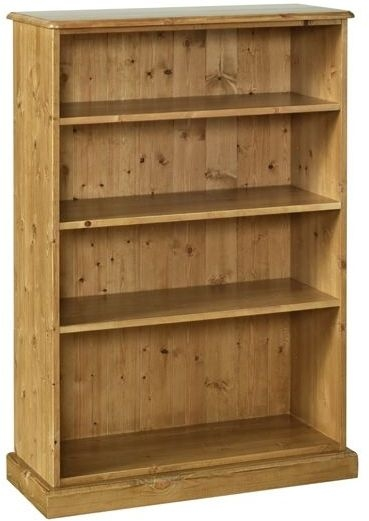 Devonshire Torridge Pine Bookcase - 4ft with 12in Deep Shelves