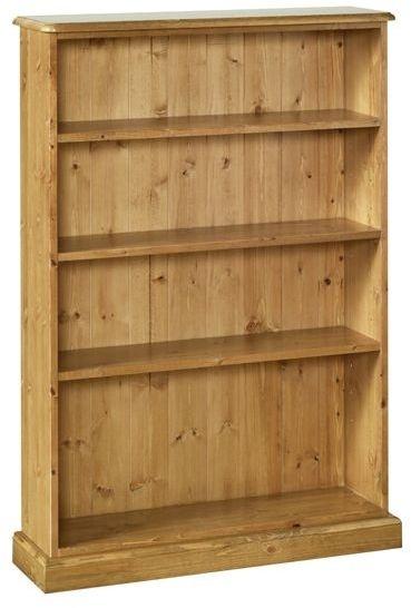 Devonshire Torridge Pine Bookcase - 4ft with 8in Deep Shelves