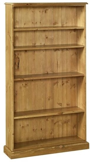 Devonshire Torridge Pine Bookcase - 5ft with 8in Deep Shelves
