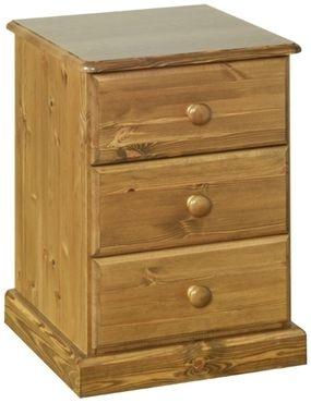 Devonshire Torridge Pine Bedside Cabinet - 3 Drawer