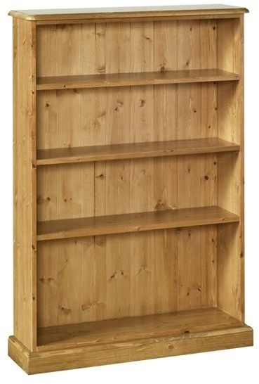 Devonshire Torridge Pine Bookcase - 4ft with 8in Deep Shelves