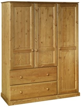 Devonshire Torridge Pine Wardrobe - Triple 2 Drawer