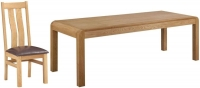 Devonshire Verona Oak Extending Dining Table and 6 Arizona Chairs