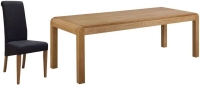 Devonshire Verona Oak Extending Dining Table and 6 Charcoal Fabric Chairs
