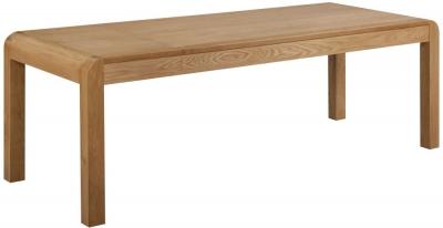 Devonshire Verona Oak Rectangular Extending Dining Table - 180cm-220cm