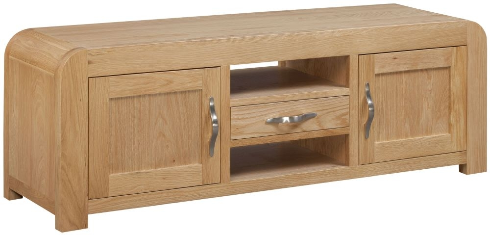 Devonshire Verona Oak 2 Door 1 Drawer Wide Screen TV Unit