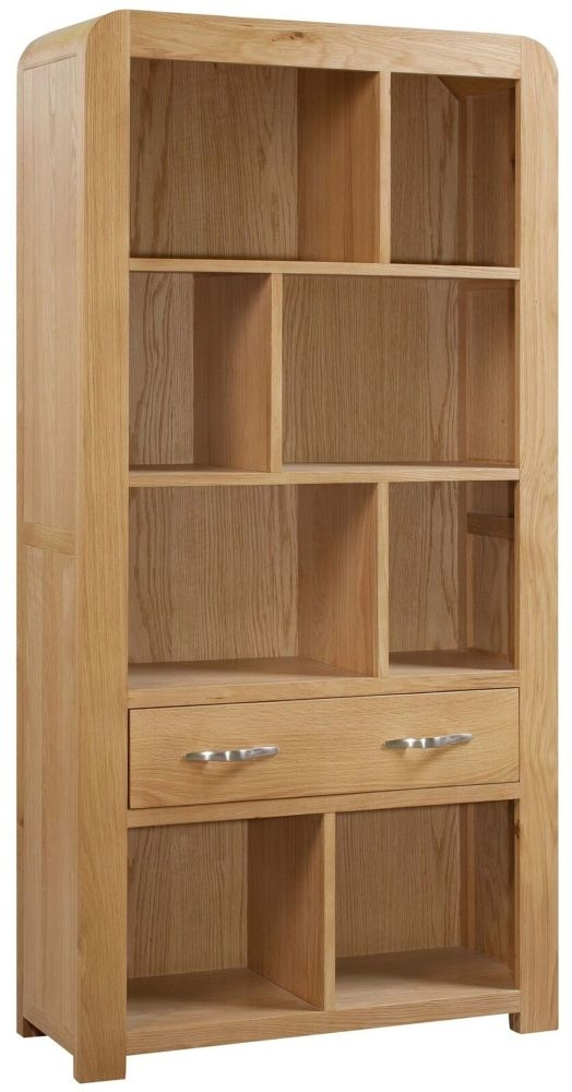 Devonshire Verona Oak Bookcase - Tall with Drawer