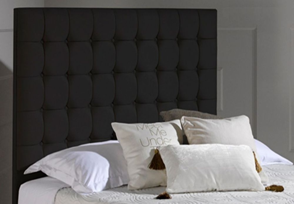 Dormeo Octaspring Venice Midnight Black Fabric Headboard